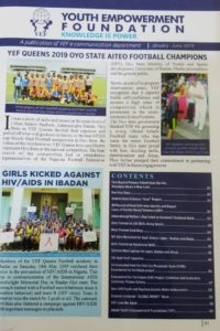 NEWSLETTER-YOUTH EMPOWERMENT FOUNDATION_